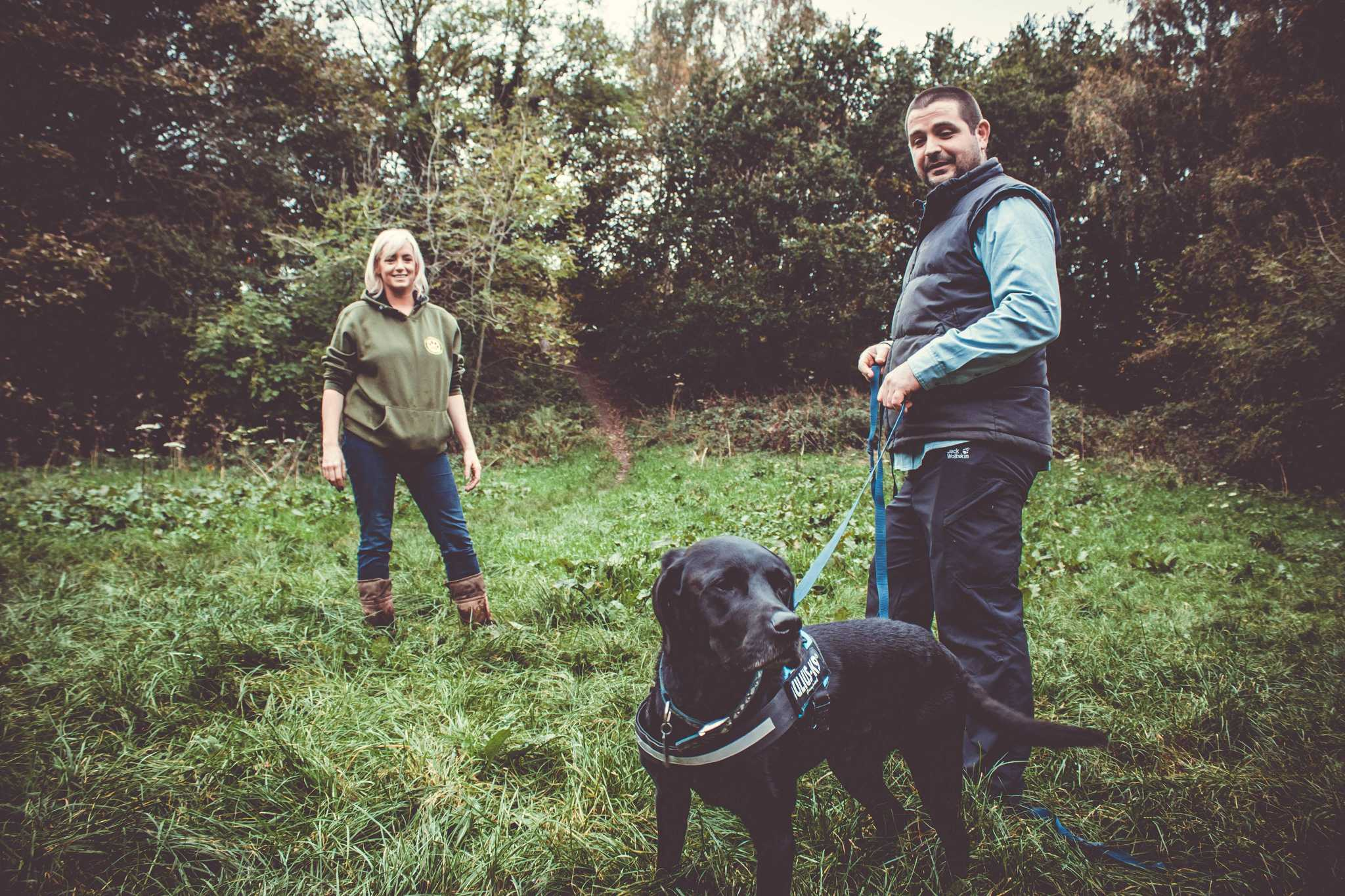 Kevin is being instructed by the fabulous Louise Elizabeth Wilson of Conservation K9 Consultancy on one of her courses for dog trainers.
